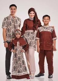 Model Baju Batik Muslim Seragam Keluarga Terbaru