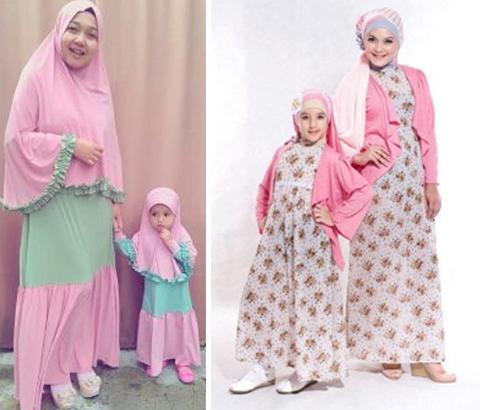 Baju ibu dan bayi 25 model baju seragam keluarga pengantin Contoh baju gamis anak
