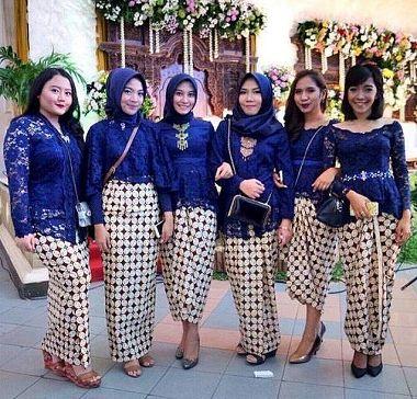 Model Baju Kebaya Seragam Keluarga Pesta Pernikahan Terbaru