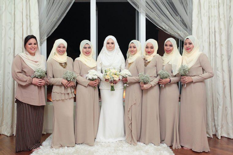 Model Baju Seragam Keluarga Pengantin Muslimah Modern Terbaru