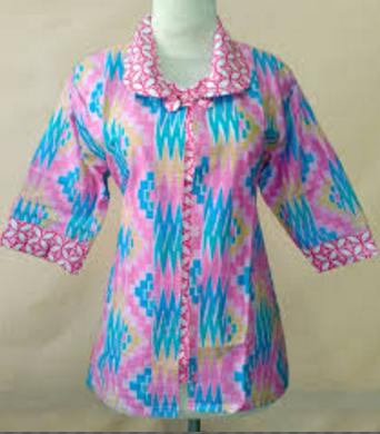 model baju batik Wanita untuk kerja di kantor terbaru