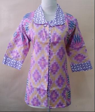 model baju batik kerja kantor wanita terbaru