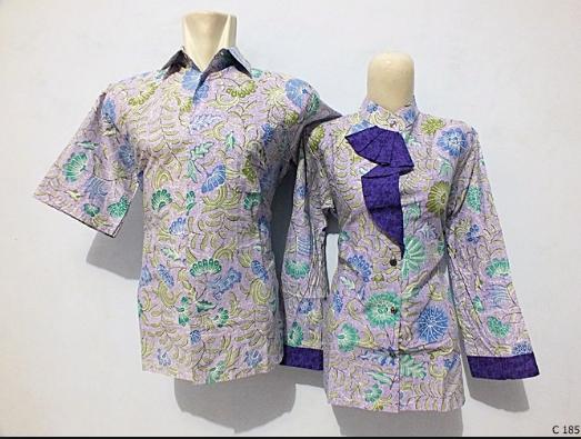 Desain Baju Couple Batik Keluarga untuk Pernikahan Terbaru